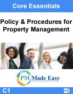 Policy Procedures Property Management