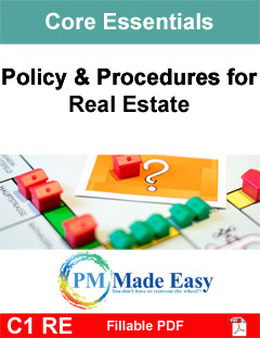 Policy & Procedures Manual for Real Estate