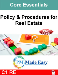 Policy & Procedures for Real Estate PDF Fillable C-1 RE