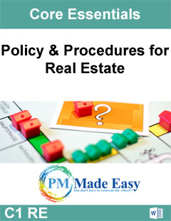 Policy & Procedures for Real Estate Word C-1 RE