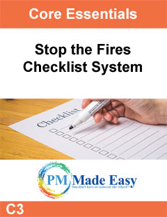 Stop the Fires: Checklist System C-3