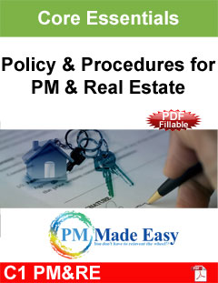Combination Policy & Procedures for Property Mgt & Real Estate PDF Fillable C-1 PM&RE