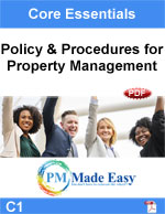 Policy & Procedures Property Management Fillable PDF