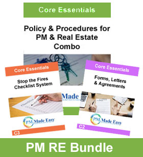 Policy & Procedures for PM & RE Combo Bundle Package