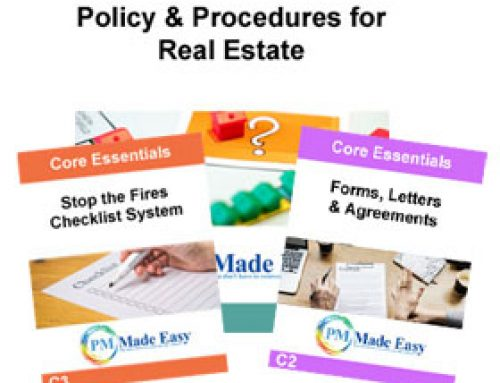 Policy & Procedures Manual for Real Estate, $280 Fillable PDF