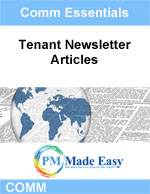 Tenant Newsletter Articles