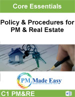 Combination Policy & Procedures for Property Mgt & Real Estate Word C-1 PM&RE
