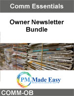 Owner Newsletter Article Bundle