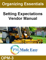 Vendor Manual Setting Expectations Vendor Manual